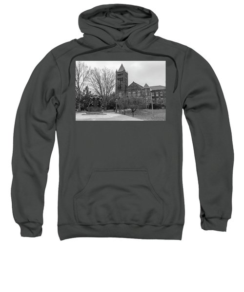 Alma Mater And Law Library University Of Illinois  Sweatshirt