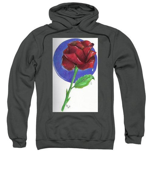 Almost Black Rose Sweatshirt