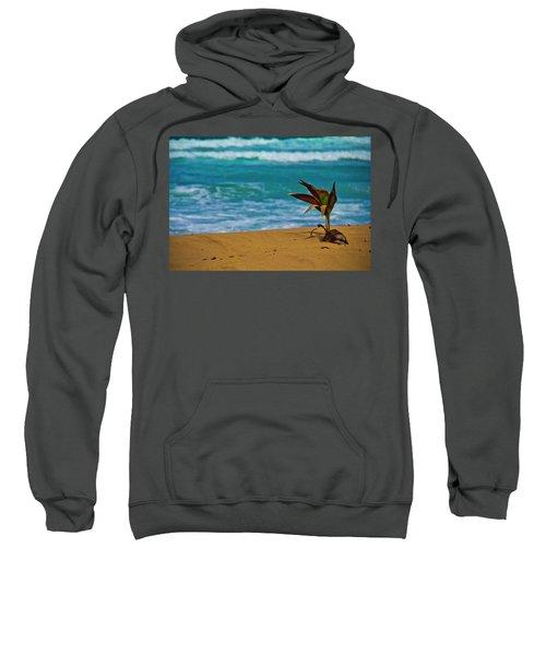 Alone On The Beach Sweatshirt