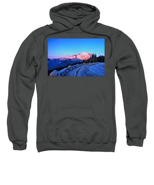 Alpenglow At Mt. Rainier Sweatshirt