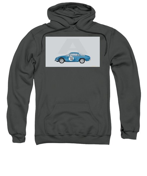 Sweatshirt featuring the mixed media Alpine A110 by TortureLord Art