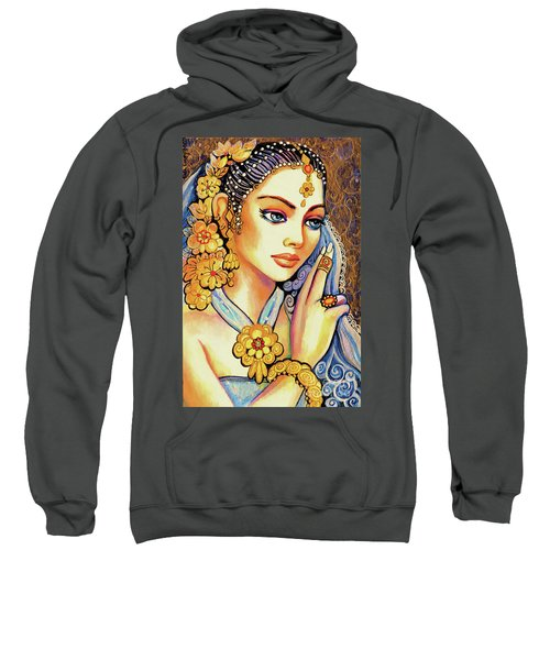 Sweatshirt featuring the painting Amari by Eva Campbell