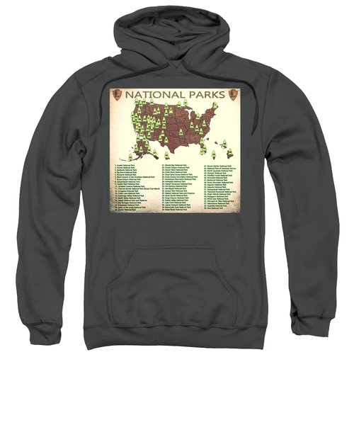America National Parks Map Sweatshirt