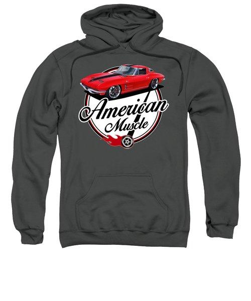 American Muscle In Red Sweatshirt