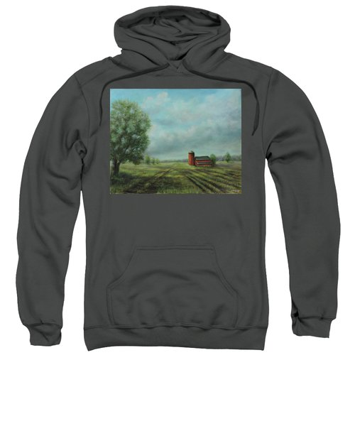 American Scene Red Barn  Sweatshirt