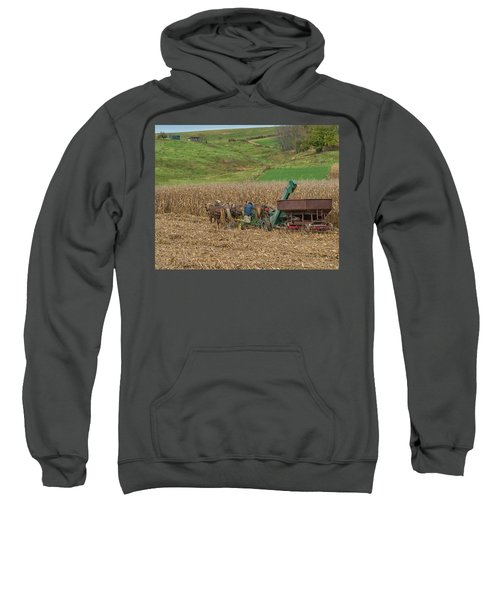 Amish Harvest In Ohio  Sweatshirt