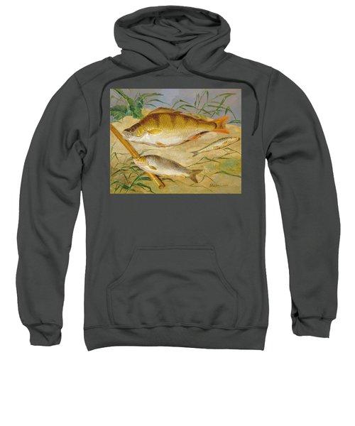 An Anglers Catch Of Coarse Fish Ca. 1850 Sweatshirt