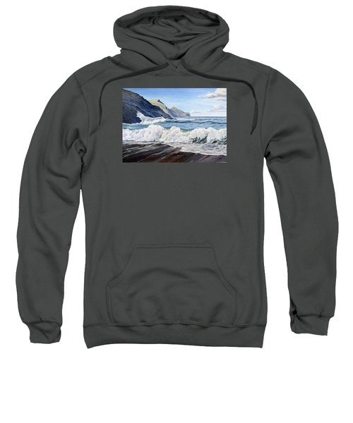 Sweatshirt featuring the painting An April Morning At Crackington Haven by Lawrence Dyer