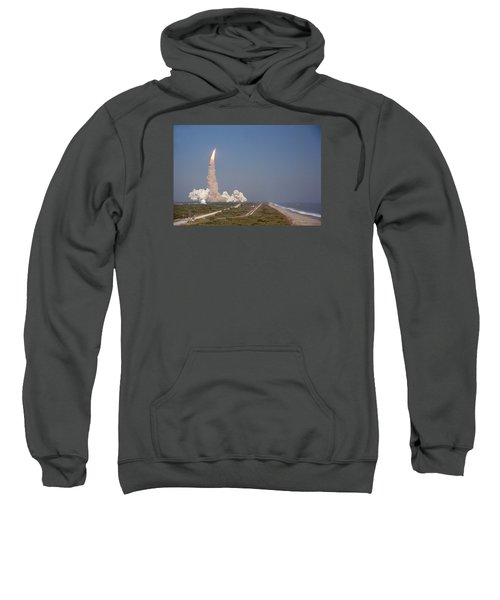 An Oceanside View Of The Sts-29 Discovery Launch From Pad 39b. Sweatshirt