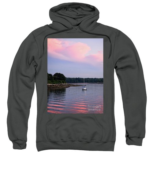 Anchored At Peaks Island, Maine  -07828 Sweatshirt