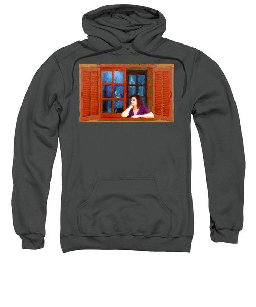 Andrea And The Cat Sweatshirt