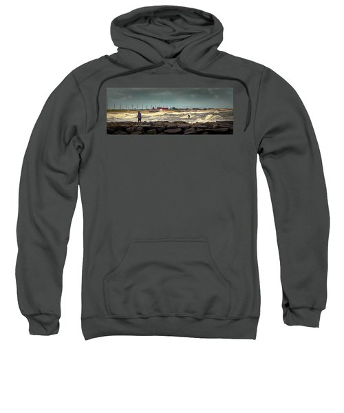 Angry Surf At Indian River Inlet Sweatshirt