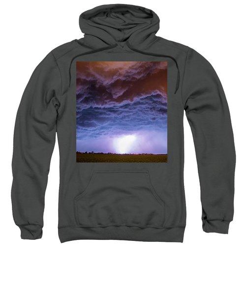 Another Impressive Nebraska Night Thunderstorm 007 Sweatshirt