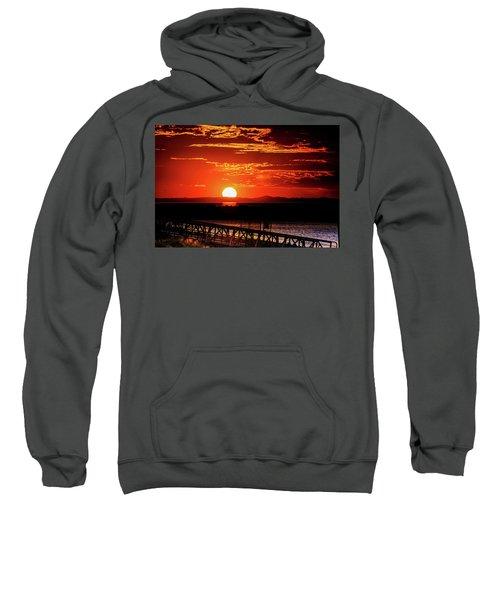 Antelope Island Marina Sunset Sweatshirt