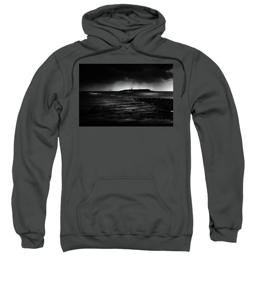 Approaching Storm, Ailsa Craig And Pladda Island Sweatshirt