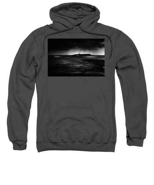 Approaching Storm, Ailsa Craig And Pladda Island Sweatshirt