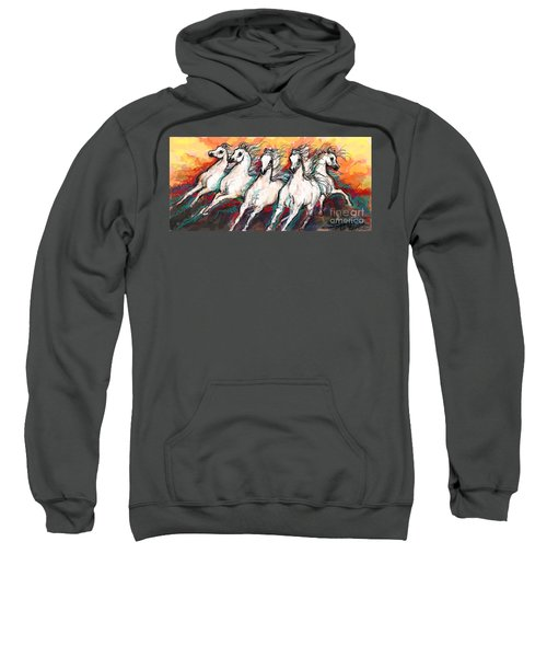 Arabian Sunset Horses Sweatshirt