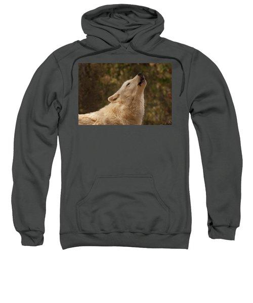 Arctic Wolf Howling Sweatshirt