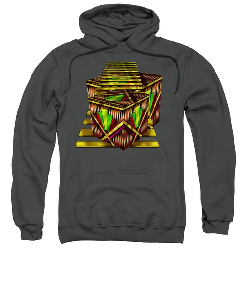 Art Deco Cubes 2 - Transparent Sweatshirt