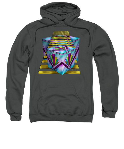 Art Deco Cubes 1 - Transparent Sweatshirt