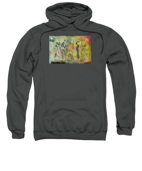 Art Deco Dancing Sweatshirt by Bellesouth Studio