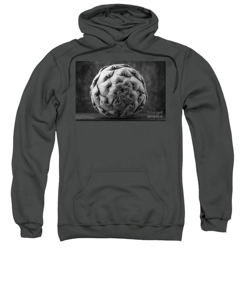Artichoke Black And White Still Life Two Sweatshirt by Edward Fielding