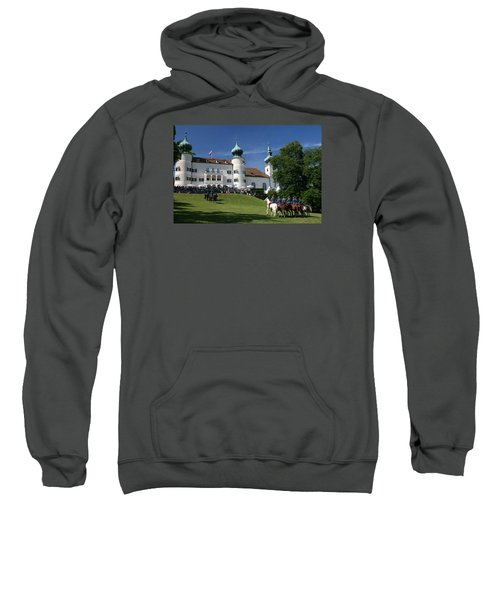 Sweatshirt featuring the photograph Artstetten Castle In June by Travel Pics