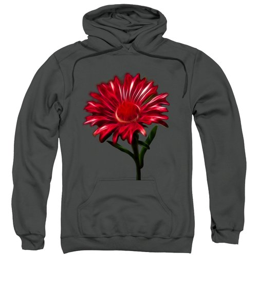Red Daisy Sweatshirt by Shane Bechler
