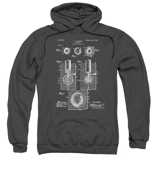 1902 Golf Ball Patent Artwork - Gray Sweatshirt
