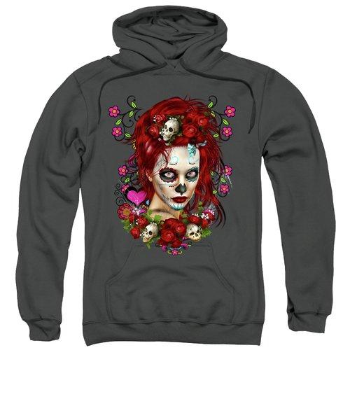Sugar Doll Red Sweatshirt by Shanina Conway