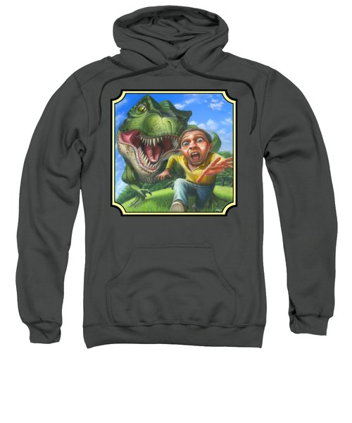 Tyrannosaurus Rex Jurassic Park Dinosaur - T Rex - T Rex - Extinct Predator - Square Format Sweatshirt