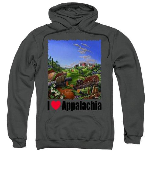 I Love Appalachia - Spring Groundhog Sweatshirt
