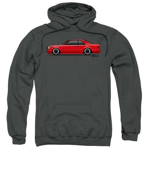 Mercedes W124 300e Red Amg Hammer Widebody Coupe Sweatshirt