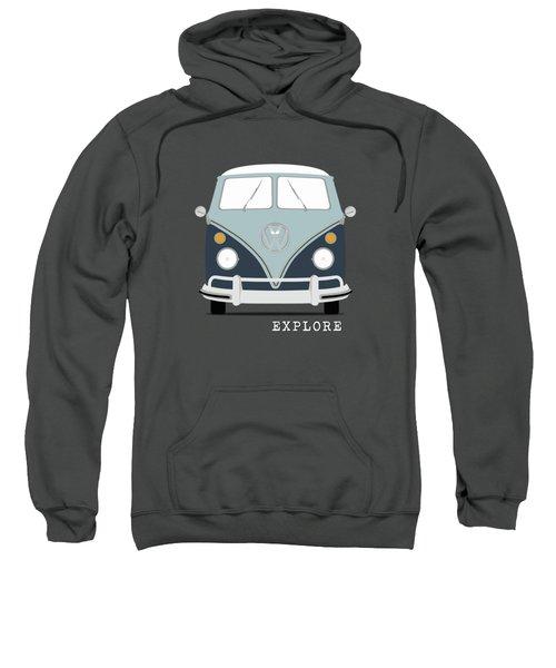 Vw Bus Blue Sweatshirt by Mark Rogan
