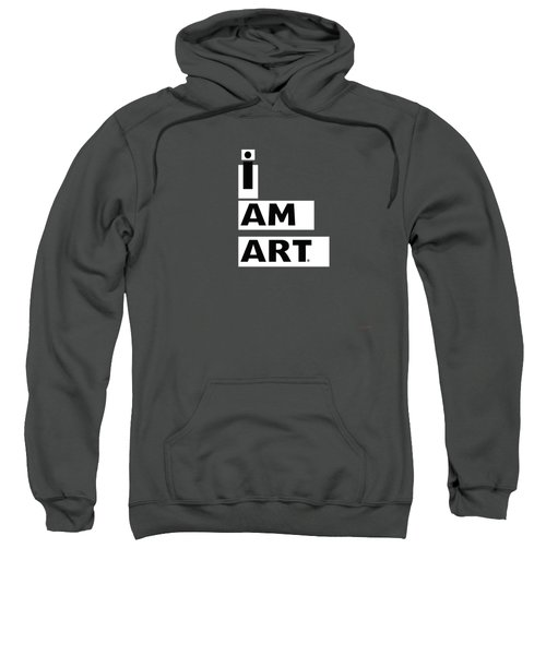 I Am Art Stripes- Design By Linda Woods Sweatshirt