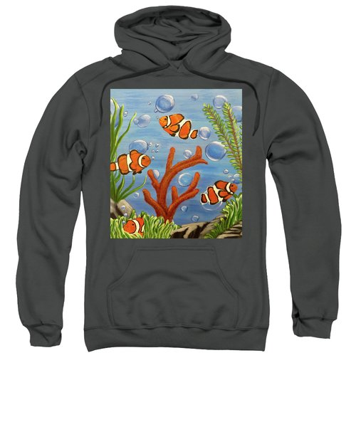 Clowning Around Sweatshirt by Teresa Wing
