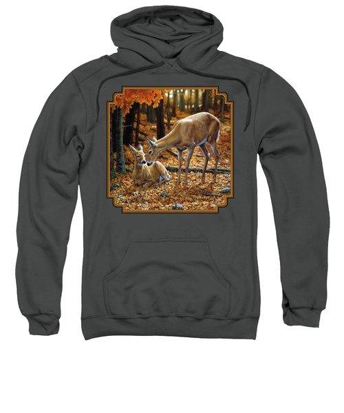 Whitetail Deer - Autumn Innocence 2 Sweatshirt