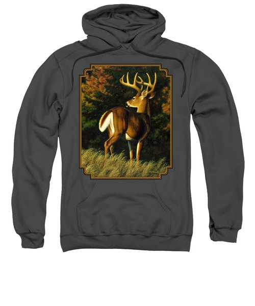Whitetail Buck - Indecision Sweatshirt by Crista Forest