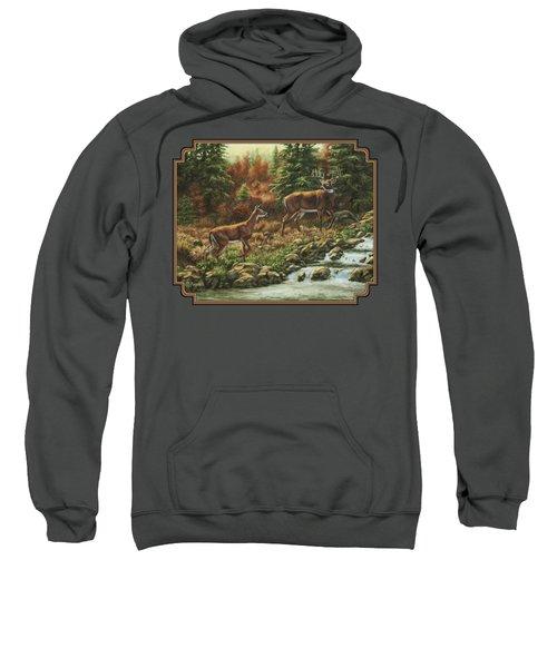 Whitetail Deer - Follow Me Sweatshirt by Crista Forest