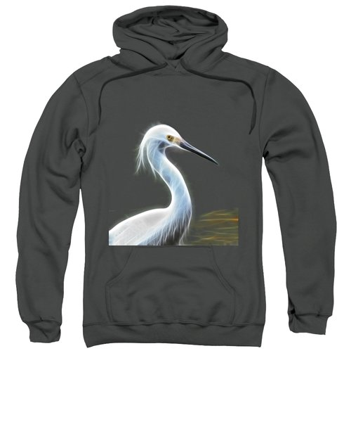 Snow Egret Sweatshirt by Shane Bechler