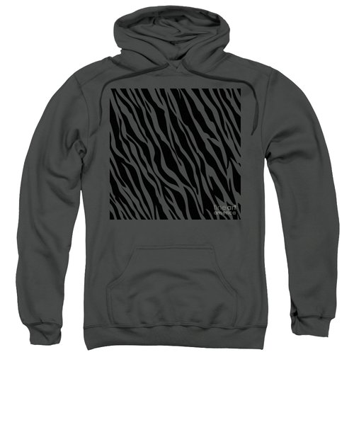 Tiger On White Sweatshirt