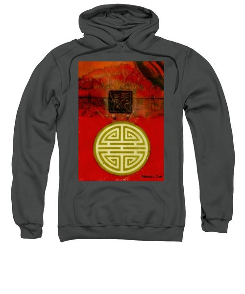 Asian Red Encaustic Sweatshirt by Bellesouth Studio