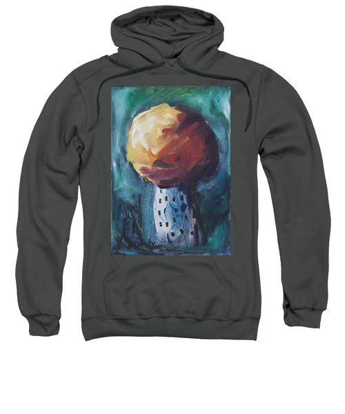 Sweatshirt featuring the painting Aspen Bolitas Mushroom by Yulia Kazansky