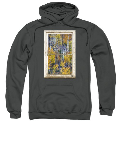 Aspen Tree Magic Cottonwood Pass White Farm House Window Art Sweatshirt by James BO  Insogna
