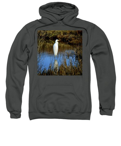 Assateague Island Great Egret Ardea Alba Sweatshirt