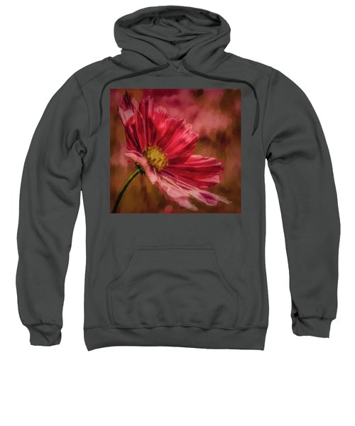 Aster Red Painterly #h1 Sweatshirt