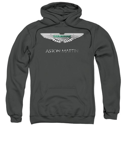 Aston Martin - 3 D Badge On Red Sweatshirt by Serge Averbukh