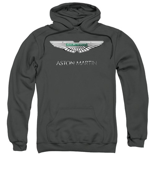 Aston Martin - 3 D Badge On Red Sweatshirt