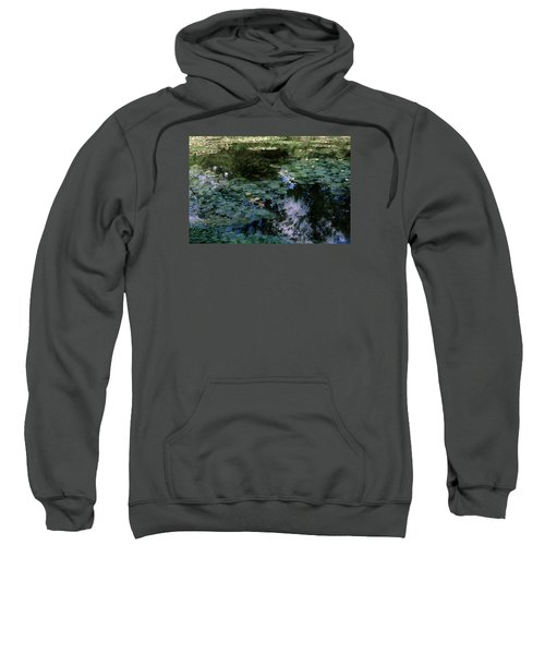 Sweatshirt featuring the photograph At Claude Monet's Water Garden 10 by Dubi Roman