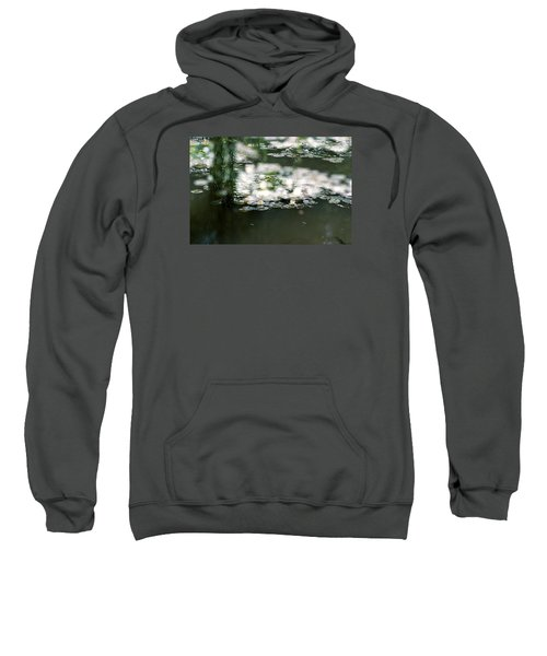 Sweatshirt featuring the photograph At Claude Monet's Water Garden 5 by Dubi Roman